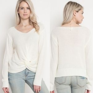 SKYLAR Front Knot Sweater